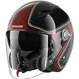 HE7455EKRXS - Shark RSJ Sassy Motorcycle Helmet S Black Red (KRX)