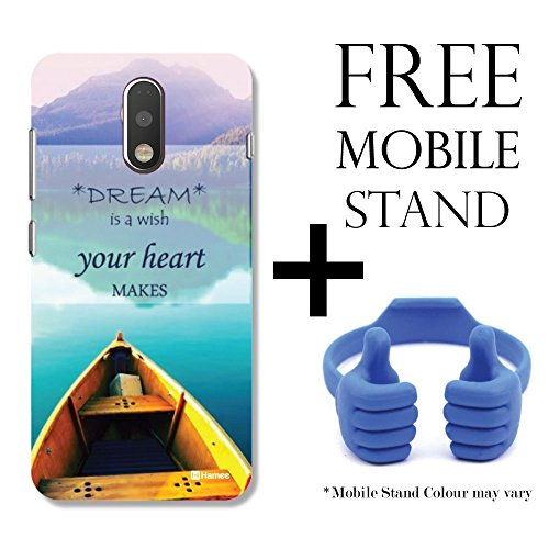 Hamee TM Printed Hard Back Skin Case Cover For Motorola Moto G4 Play / Moto G Play 4th gen Cover with Free Mobile Stand – Combo 5