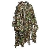 3d selva Sniper Set camping caza camuflaje Poncho de observación de aves Ghillie Suit