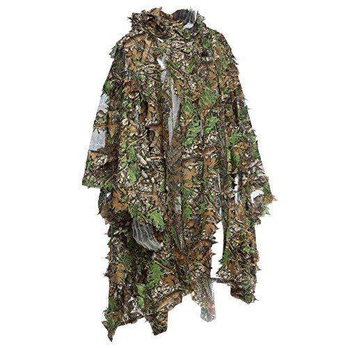 3D Jungle Sniper Set Jagd Camouflage Camping Vogelbeobachtung Poncho Ghillie Suit (Poncho Ghillie)