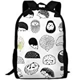 best& Cute Hedgehog School Backpack Bookbag for College Travel Hiking Fit Laptop Water Resistant