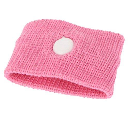 Mangotree Akupressur Anti-Übelkeit Relief Armbänder Reisen Seekrankheit Armbänder für Erwachsene Kinder und Schwangere (wiederverwendbar) (1pair, Rosa)