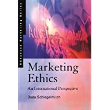 Marketing Ethics: An International Perspective by Bodo Schlegelmilch (1997-12-18)