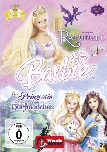Barbie als: Rapunzel / Barbie als Die Prinzessin und das Dorfmädchen [2 DVDs] (Barbie Dvd Rapunzel)