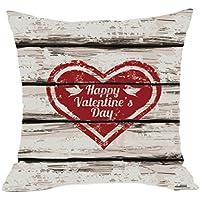 """hmlai de San Valentín Día Fashion manta fundas de almohada de café sofá cojín cubierta decoración del hogar, 18""""x18"""", do"""