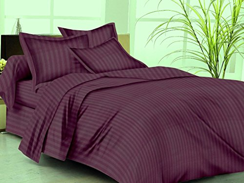 Trance Single Duvet Cover with 1 pillow cover (Deep Wine) 60