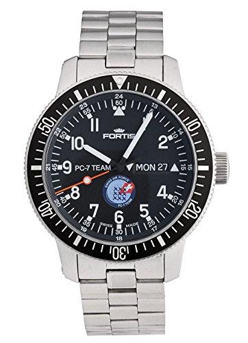 Fortis Herren-Armbanduhr PC-7 Team Edition Datum Wochentag Analog Automatik 647.10.91 M