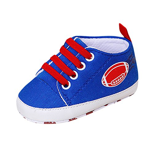 4ad6cf160b9 YanHoo Zapatos para niños Zapatillas de Deporte monocromáticas bebé Rugby  impresión Antideslizante Zapatos de niño Zapatos de Fondo Suave Bebé recién  Nacido ...