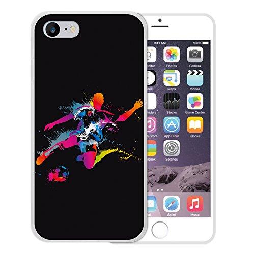 WoowCase Hülle Case für [ iPhone 7 ] Handy Cover Schutzhülle Strategie Fußballtisch Housse Gel iPhone 7 Transparent D0021