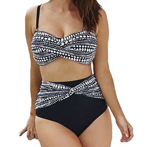 Damen Sommer Badebekleidung - Juleya 2 Stück / Satz Mode Drucken Bikini-Set Monokini Oberteile Mit Höschen Badeanzug S--XXXXXL (Stück 2 Bikini-höschen)