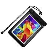 jlyifan Custodia impermeabile borsa custodia per Samsung Galaxy Tab S28.0/Galaxy Tab A 8.0/Tab E 8.0/Galaxy Tab 47.0/Galaxy J Max 7.0(Nero)