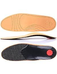 Premium Luxus Fußbett orthopädische Leder Schuheinlagen Einlagen Sohlen Gr. 36-50 z1706