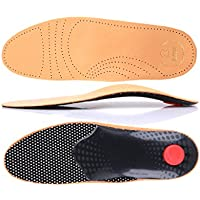 biped Premium Footbed made of Plant-Based Tanned Leather - with Truss Pad - Midfoot Rest - Heel Pad and Activated Carbon z1706 (8) (Shoes & Bags)