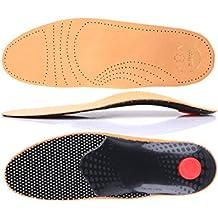Premium Fußbett aus pflanzlich gegerbtem Leder - mit Pelotte - Mittelfußstütze - Fersenpolster und Aktivkohle z1706