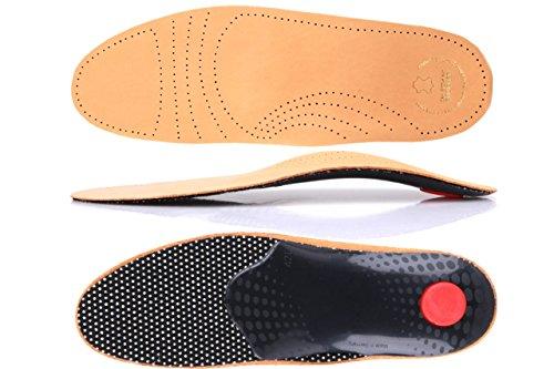 Premium Fußbett aus pflanzlich gegerbtem Leder - mit Pelotte - Mittelfußstütze - Fersenpolster und Aktivkohle z1706 Test