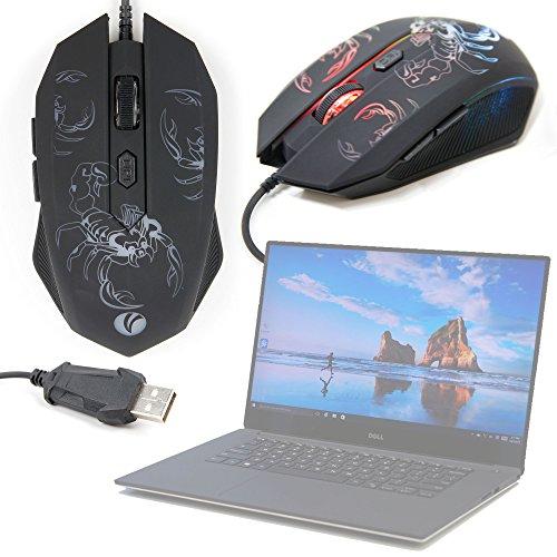 DURAGADGET Gaming Maus mit farbigen LED für Computer Chillblast/Clevo/Cyberpower/Dell/Haier-Multitasking und rutschfest-Design SKORPION - Cyberpower Pcs