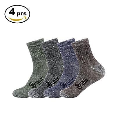 Vihir Merino Socken Herren - Sportsocken mit 80% Merino Wolle Antimikrobielle für Sport, Freizeit und Business 4Paar von Vihir bei Outdoor Shop