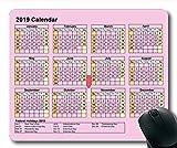 Yanteng 2019 Calendrier Tapis de Souris Grand, Calendrier 377 Tapis de Souris de Jeu, Agenda 2019 avec détails