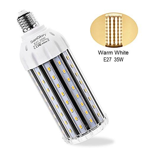 35W E27 LED Maiskolben Birnen-SanGlory Warmweiß 2900K LED Mais Licht Ersatz für 300W Glühlampe,3500 Lumen LED Leuchtmittel,Sehr Hell für Garten Werkstatt Straßenbeleuchtung Carport Großen Hof (3500 Lumen Led-licht)