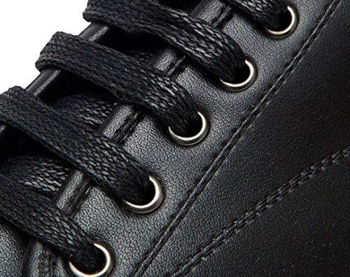 ZCH Scarpe casual in pelle Uomo Scarpe da passeggio in pizzo Nero, Bianco black