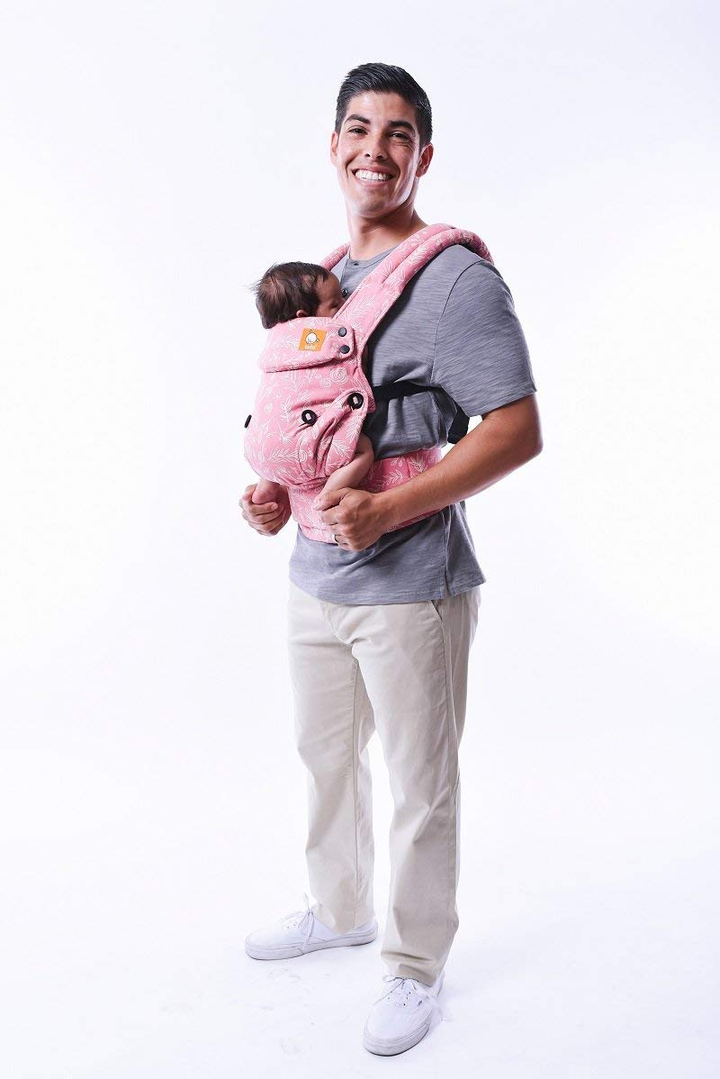 Baby Tula Explore Baby Carrier 3.2 - 20.4 kg, Adjustable Newborn to Toddler Carrier, Multiple Ergonomic Positions, Front and Back Carry, Easy-to-Use, Lightweight - Bloom, Pink and White Floral Tula  2