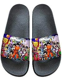 Nqdkfjeffr Dragon Ball Zapatillas Resbalón-en casa de Interior de los Deslizadores de vanguardia Unas Zapatillas de baño for niños y niñas de Verano (Color : A04, Size : EU36 US5.5)