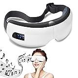 ZRYstore Massaggiatore elettrico per la cura degli occhi e la macchina per il sollievo dallo stress con 3 modalità di pressione dell'aria, compressione del calore musicale Bluetooth