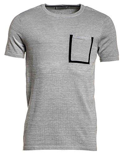 Gov Denim - graues T-Shirt mit dicken Brusttasche Grau