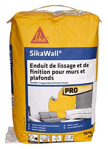 SikaWall Enduit de Lissage et de Finition murs et plafonds en poudre, 10kg