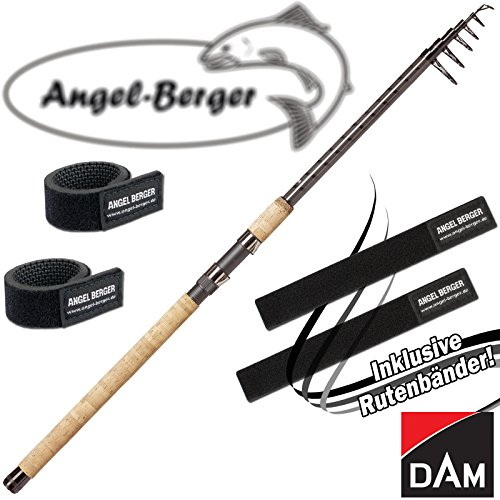 Angel-Berger Dam Spezi Stick Tele Angelruten Teleskoprute alle Modelle Rutenband (Tele Zander / 3,00m / 25-50g)