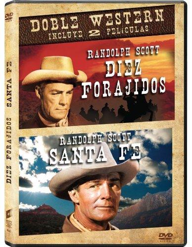 Randolph Scott Western Double: Ten Wanted Men (1954) / Santa Fe (1951) - Official Sony Columbia Region 2 PAL