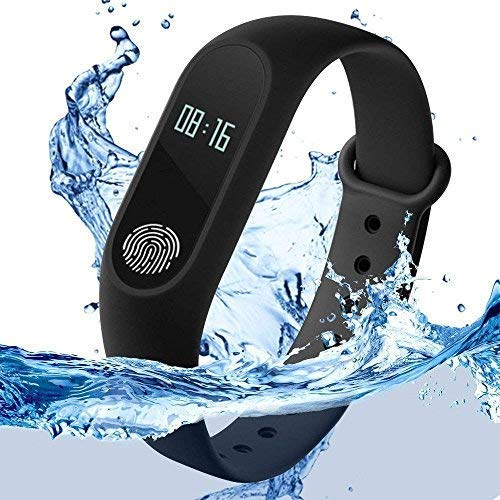 SYL Plus Activity Tracker and Fitness Band with Heart Rate Monitor | OLED Display | Bluetooth 4.0 Compatible with All Smartphones (Black)