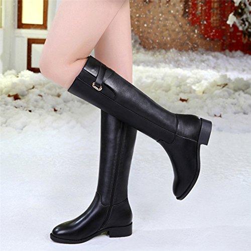FLYRCX Le donne d'inverno del calore di cashmere e stivali antislittamento per il tempo libero di moda stivali di Martin,39 36