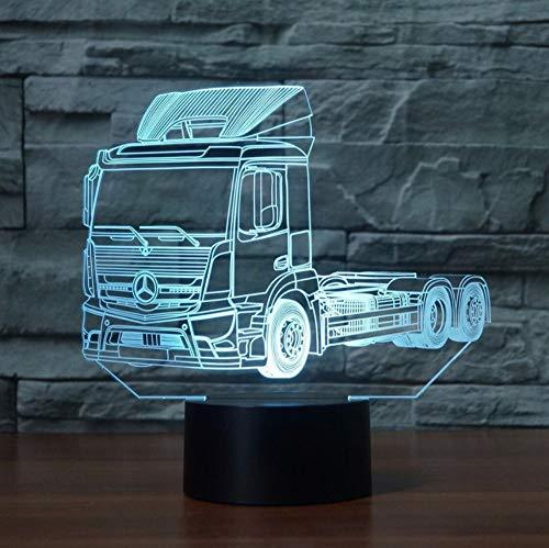LKW 3D Nachtlicht LED Touch Switch 7 Farbwechsel 3D Schreibtischlampe Anhänger Form Innenatmosphäre Lampe Als Geschenk des Kindes -