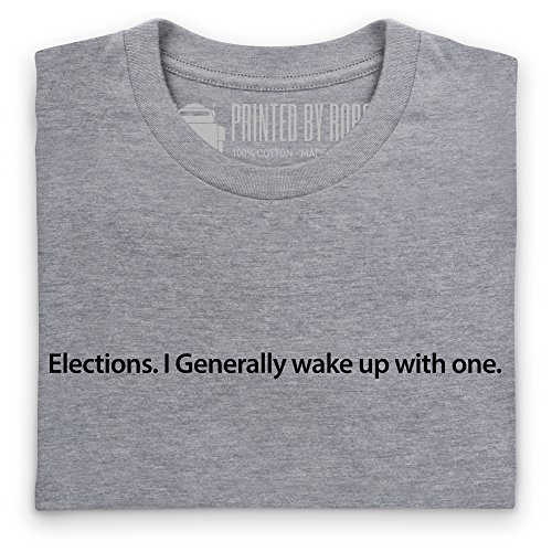 Wake Up With An Election T-shirt, Uomo Grigio mlange