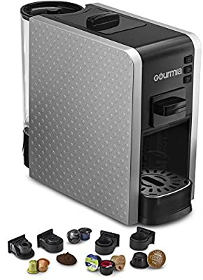 Gourmia Multi Capsule Espresso Coffee Machine Includes Pod Cartridges Compatible for Nespresso, K-Cup from Gourmia