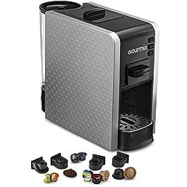 Gourmia Multi Capsule Espresso Coffee Machine Includes Pod Cartridges Compatible for Nespresso – Silver – UK Plug