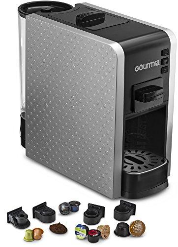Gourmia Multi Capsule Espresso Coffee Machine Includes Pod Cartridges Compatible for Nespresso – Silver