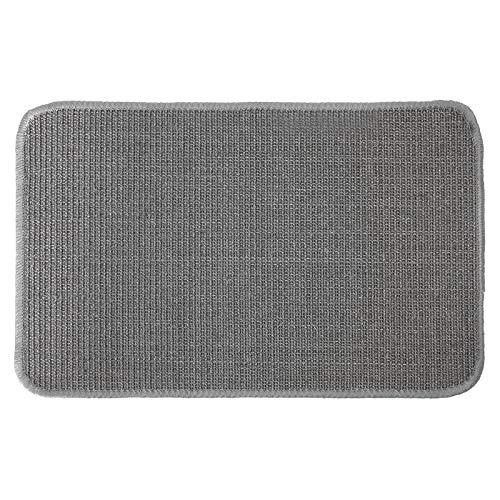 Primaflor - Ideen in Textil Katzen-Kratzmatte Katzenteppich - Grau 0,40m x 0,60m, 100% Sisal, Rutschhemmend - Sisal-Matte, Geeignet für Fußbodenheizung, Sisalteppich für Wand & Boden