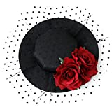 Best Fascinators - Women Fascinator Gothic Mesh Hat Flower Veil Hair Review