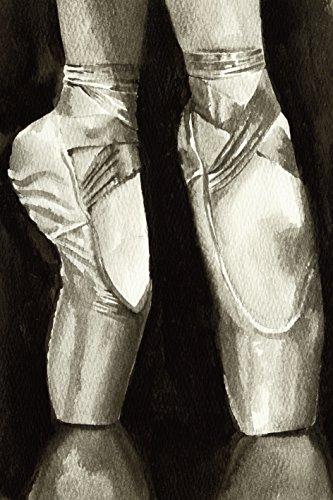 Artland Qualitätsbilder I Bild auf Leinwand Leinwandbilder Wandbilder 20 x 30 cm Sport Funsport Tanzen Malerei Schwarz C2NU Balletschuhe II