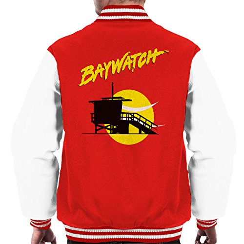 Baywatch Lifeguard Tower Sunset Men's Varsity ()