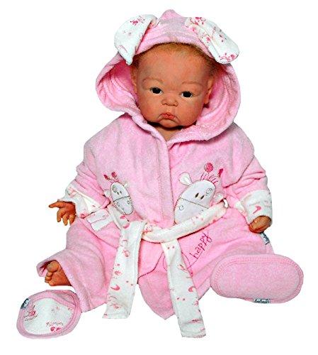baby erstausstattung set bademantel kapuze badetuch schuhe g rtel mit s er tier applikation. Black Bedroom Furniture Sets. Home Design Ideas
