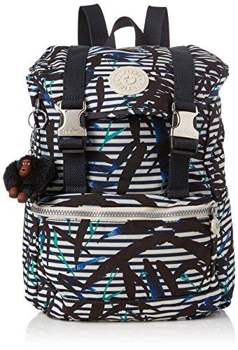 Kipling Damen Experience S Rucksack, 26x32x0.1 cm Mehrfarbig (Bamboo Stripes)