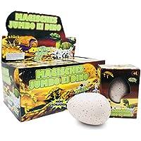 JustRean Toys XXL Dino �� Schlüpf Ei 11cm - Magic Growing Egg Jumbo Dinosaurier Schlüpfei