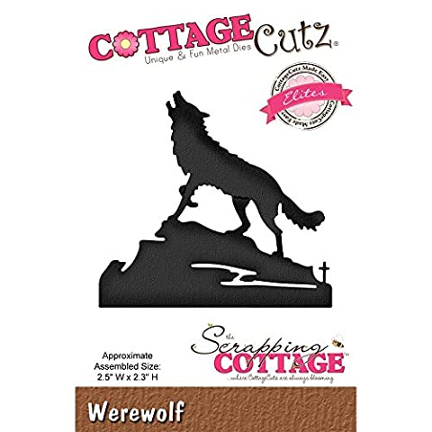 Cottage Cutz metal cutting & embossing die howling dog wolf werewolf cce-455