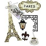 Rayher Hobby 58442000  Deko-Sticker Paris mit Klebepunkt, SB-Beutel 5 Stück