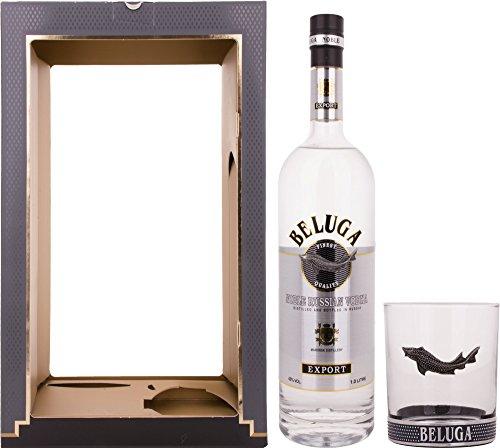 Beluga-Export-Noble-Russian-Vodka-mit-Geschenkverpackung-mit-1-Rocking-Glas-1-x-1-l