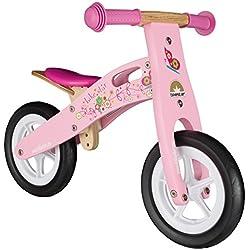 Bikestar Vélo Draisienne Enfants en Bois pour Garcons et Filles DE 2-3 Ans ★ Vélo sans pédales évolutive 10 Pouces ★ Rose