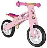 BIKESTAR Kinderlaufrad Lauflernrad Kinderrad für Jungen und Mädchen ab 2-3 Jahre | 10 Zoll Kinder Laufrad Holz | Pink